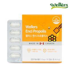 [웰러스] 캐나다직수입 엔시 프로폴리스 90캡슐1박스  (3개월분)