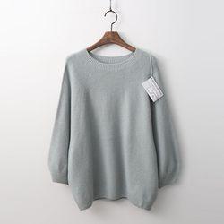 Hoega 캐시미어 N Wool Round Sweater - 9부소매