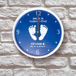 포토 이니셜 무소음 발도장 아크릴벽시계
