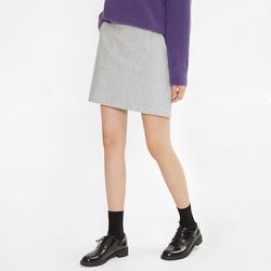 smooth wool mini skirt (s m)