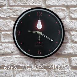 이니셜 전구 무소음 아크릴벽시계