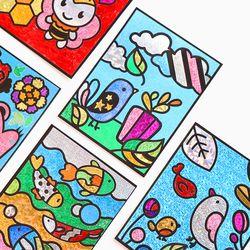 동물캐릭터 포일아트나비 스티커
