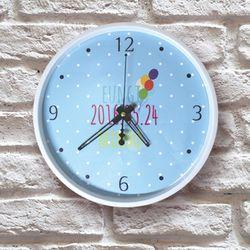 포토 이니셜 무소음 풍선 아크릴벽시계