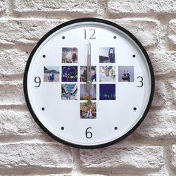 포토 이니셜 무소음 하트 아크릴벽시계