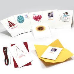 라온 실꿰기 엽서 카드 만들기 세트  DIY 재료