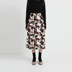 make pattern art skirt (2colors)