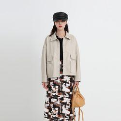 light leather pocket shirt jacket (2colors)