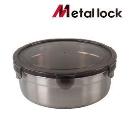 메탈락 스텐밀폐용기 (원형6호 12개입)