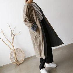 Autumn Chic Coat - 안감기모