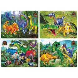 12+18+24+35조각 4종 판퍼즐  공룡메카드 2