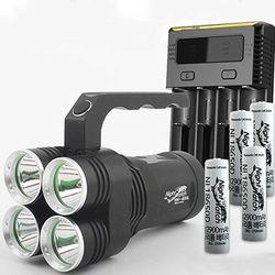 LED 써치라이트 세트 4E85L-i4 294  손전등 8500루멘