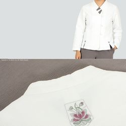 [여성용] 목련 배색 저고리-면도비-1color