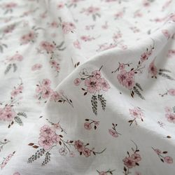 [Fabric] Hibiscus 히비스커스 - 퓨어린넨 캔버스 백마포