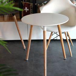Dayz 화이트 원형 사이드 테이블 60