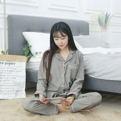 [엔비]러브핑코 E.라비앙 면잠옷 긴팔잠옷