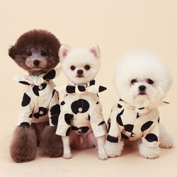 Cow shirt ( ivory + black dot )