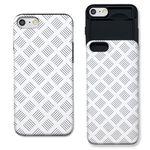 [아이폰7+] 라인 패턴 화이트 슬라이더 케이스