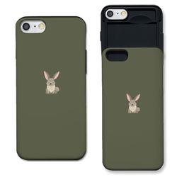 [노트8 노트5] 토끼 v2 카키 슬라이더 케이스