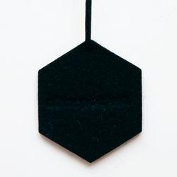 앨리스포켓 천연양모 방향제 - 블랙 육각형 (리필2ml set)