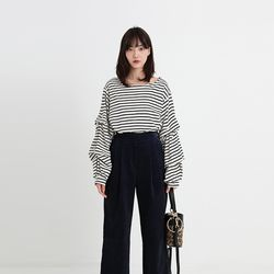 stripe orchestra tee  (2colors)