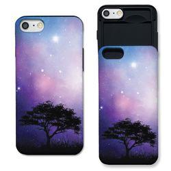[아이폰X] 밤하늘 아래 나무 한그루 슬라이더 케이스