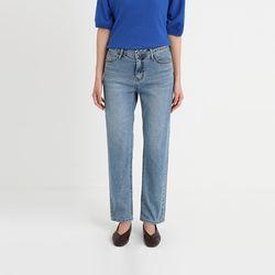 mark straight denim pants