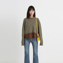 suger crop round knit (5colors)