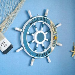 여름소품 인테리어 지중해 대형 방향키 장식품
