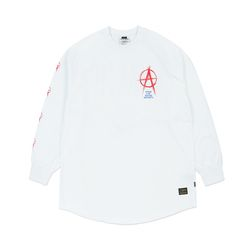 ANARCHY LAYERED LONG SLEEVES T-SHIRTS WHITE