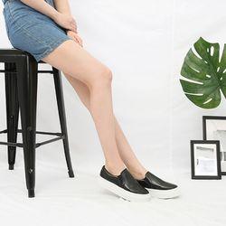 [쿠루] 여성 3cm 데일리 민자 통굽 슬립온 G7339