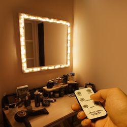 DIY 화장대 무드등 LED 거울조명 만들기