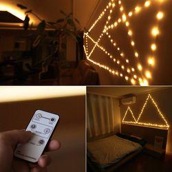 LED 와이어전구 200P 리모컨 DIY 조명