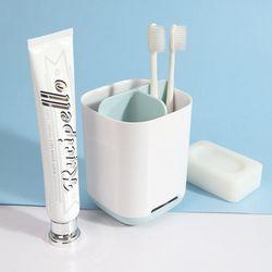 욕실 칫솔 3칸 정리함 creamy