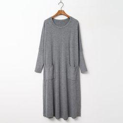 Wool N 캐시미어 Pocket Knit Dress