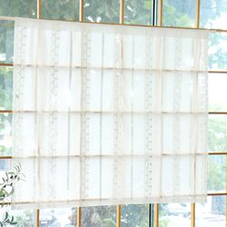 러브레터 면레이스 북유럽 가리개커튼 143x123