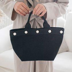 진주 포인트 토트백 가방