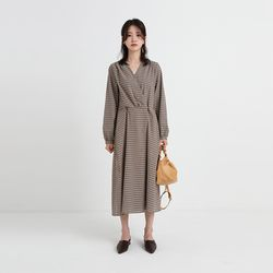 anne check one-piece (2colors)