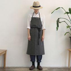 gray stripe apron