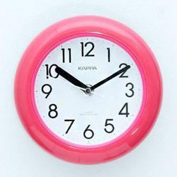 모디 욕실 핑크 방수벽시계