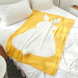 면니트 담요-옐로우 블랑켓