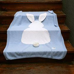 면니트 담요-블루  블랑켓