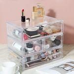 파우더룸 화장품 수납정리 투명 아크릴 서랍 시리즈