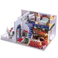 [adico]DIY 미니어처 하우스 - 블루 크리스마스