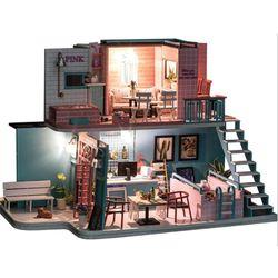 [adico]DIY 미니이처 풀하우스 - 핑크 카페