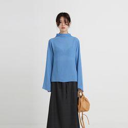 sheer pleats blouse (4colors)