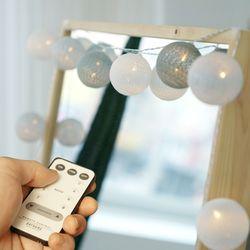 리모컨 코튼볼 20구 LED 무드등 GRAY
