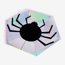 할로윈 홀로그램 거미 파티접시 (8개)