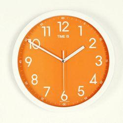모디 저소음 오렌지 원형 벽시계