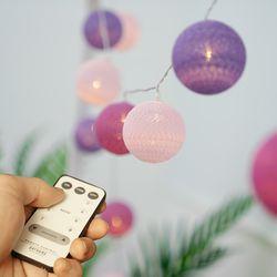 코튼볼 20구 LED 파티조명 PUPLE