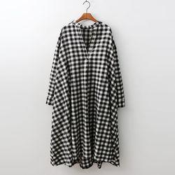 Gingham Check A-Line Dress